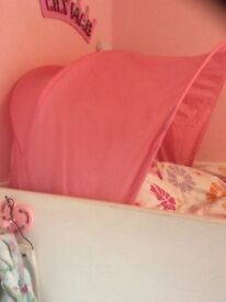 Girls pink bed canopy/ tent