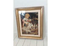 Gold Framed Picture New