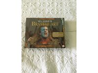 """Commerative Edition of Mel Gibson's """"Braveheart"""" in a digitally mastered VHS Box Set."""
