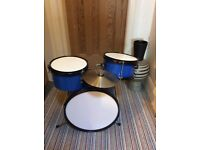 Blue Drum kit , rarely ever used. £25