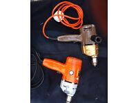 1970 / 80s - 2 Rare Black & Decker Vintage / Old Drills -- Working Order - £25 FOR BOTH - **