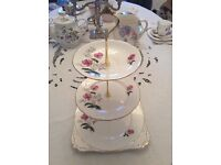 Royal Stafford Bone China 3 Tier Cake Stand