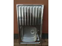 Stainless Steel Kitchen sink with one tap