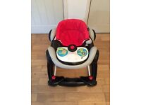Racing car coupe baby walker / rocker. Very good condition