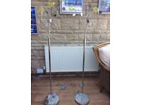2 x Next floor lamps with dimmer switches