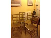 Solid wooden chairs x4