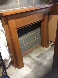 Solid timber fire surround