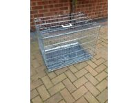 Medium dog cage new size on pic of box