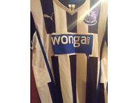 Newcastle United shirt, home, black/white 2013/2014 small