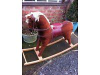 Large retro rocking horse