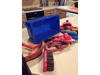 Children's Horse Tack/Grooming Box with brushes etc £ 10.00