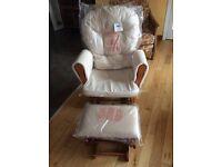 Baby nursing chair, rocker glider