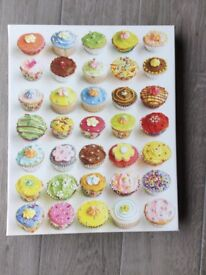 Cupcakes design wall art canvas from Aspace. 50cms x 40cms