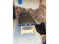 Wooden black massage table