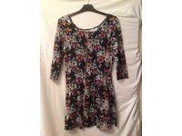 VERO MODA Pixel Folk 3/4 Mini Dress, size Small.