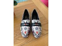 Size 6 - patterned loafers - Next - as new condition