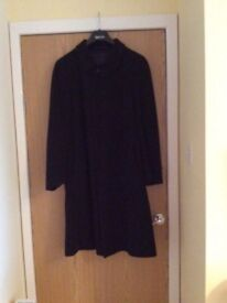 Gents Navy Cashmere overcoat size 40R