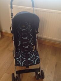 Pushchair O baby Atlas (navy) with raincover