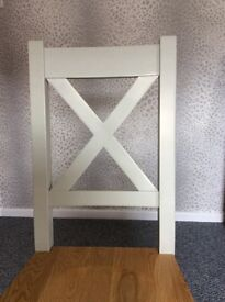 Solid oak chairs x4