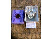 Condenser box for tumble dryer - collects water from pipe