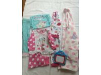 Girls bundle of nightwear aged 2-3