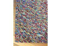Multicolour jelly beans rug
