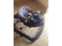 Baby walker and bouncer seat