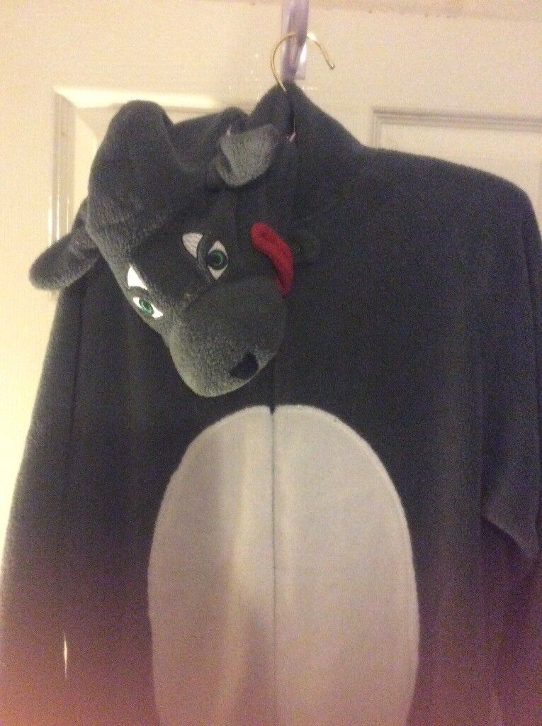 Wolf onsie size L-never been worn
