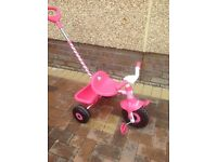Hello Kitty Trike with parent handle