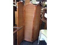Vintage folding cane screen