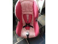 Pink maxi cosi seat