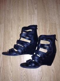 Gladiator style sandals.