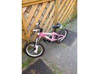 Pink girls bike for sale