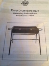 Barbecue assambled ready for use
