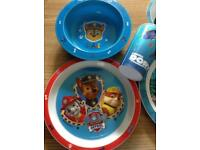 Children's plates, dishes, lunch box tubs