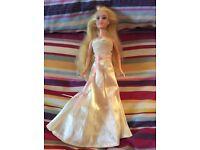 Barbie wedding dress and doll