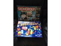 Monopoly and box of magic tricks bnib