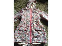 Next Floral Raincoat Age 7-8