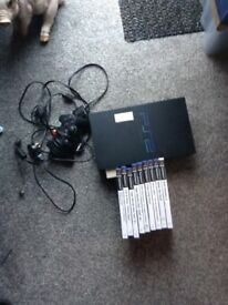 Playstation2 console games and controller
