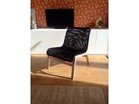 Ikea NOLMYRA easy chair, birch veneer/ black