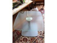 Heavy Duty Frosted Glass Table