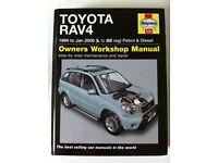 Haynes Workshop Manual For Toyota Rav 4, L to 55