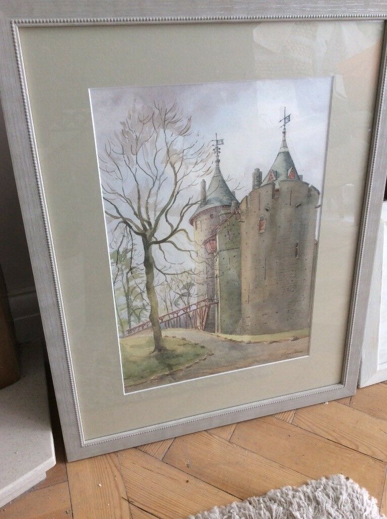 Beautiful original watercolour painting of Castell Coch nr Cardiff