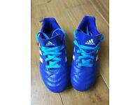 Bold Blue Adidas Childrens Football Boots. Size 12. Worn once. Excellent Condition. Smoke Free Home.