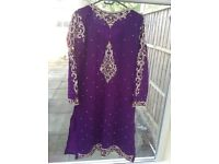 Purple beautiful Salwar Kameez
