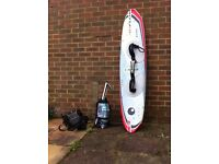 3 Boards 1 Stunt Kite 1 Harness 1 pair of Knee pads 1 Surf Bag