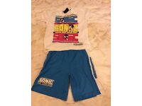 Boys age 4-5 new no tags Sega Sonic the Hedgehog pyjamas collect Sprowston