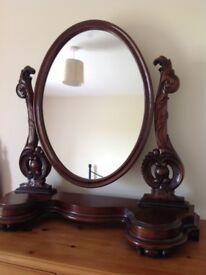 Large mahogany Victorian style dressing mirror