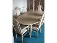 6 seating extending dinning table and chairs