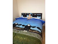 Three immaculate, unused beds and deep pocket sprung mattresses